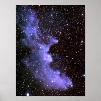 Head Nebula IC 2118 för häxa Poster