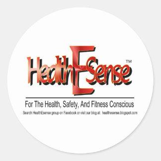 HealthEsense logotypprodukt Runt Klistermärke