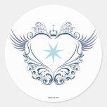 Heart Sticker Runt Klistermärke