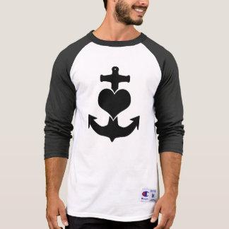 HeartAnchor 3/4 muff skjorta T-shirts