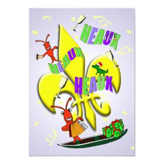 Heaux Heaux, Heaux Cajun julparty 12,7 X 17,8 Cm Inbjudningskort