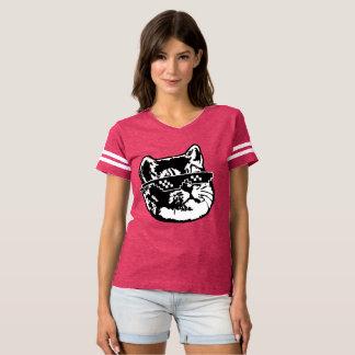 Heavy Breathing Cat with Meme Sunglasses T Shirt