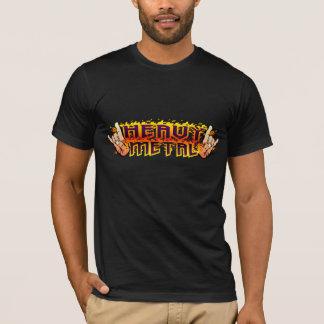 Heavy metal avfyrar Hornsskjortan Tee Shirts
