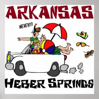 Heber fjädrar Arkansas Poster