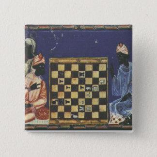 Heder som leker schack standard kanpp fyrkantig 5.1 cm