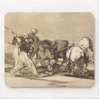 Hederna som slåss tjuren med den lancesJosé goyen Musmatta