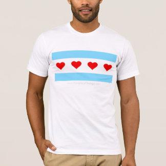 Heders- Chicago hjärta turnerar flaggaT-tröja Tee