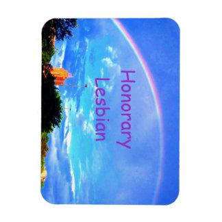 Heders- lesbisk regnbågemagnet magnet
