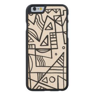 Hedrat fundersamt lyckligt fenomenalt carved lönn iPhone 6 slim skal