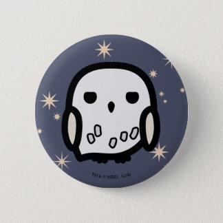 Hedwig tecknade figurerkonst standard knapp rund 5.7 cm