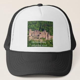 Heidelberg slott i tyskt & tyskt ordstäv truckerkeps