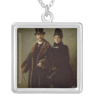 Heinrich Schliemann och hans fru Silverpläterat Halsband