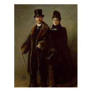 Heinrich Schliemann och hans fru Vykort