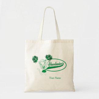 Hejaklacksledareflicka i grön Silhouette Tygkasse