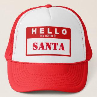 Hejen mitt namn är den Santa truckerkepsen Truckerkeps