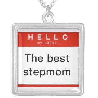 Hejen mitt namn är det bäst stepmomhalsbandet halsband med fyrkantigt hängsmycke