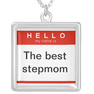 Hejen mitt namn är det bäst stepmomhalsbandet silverpläterat halsband