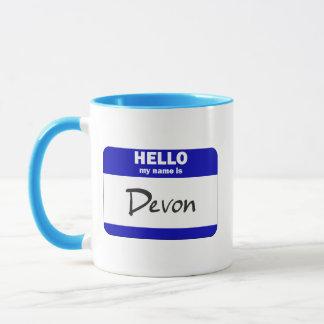 Hejen mitt namn är Devon (blått)