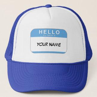 Hejen mitt namn är hatten truckerkeps