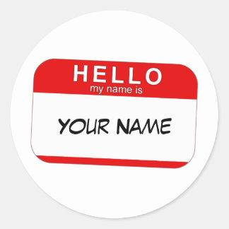 Hejen mitt namn är klistermärken