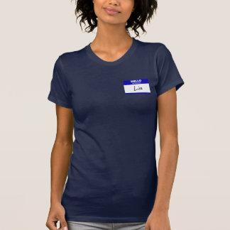 Hejen mitt namn är Lia (blått) Tee Shirts