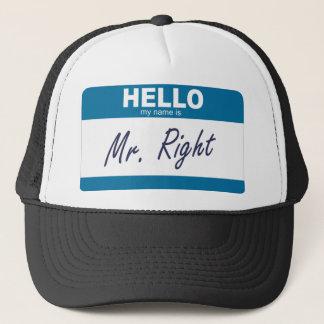 hejen mitt namn är mr höger truckerkeps