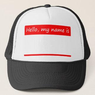Hejen mitt namn är - namn bricka keps