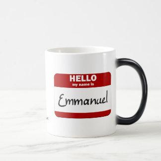 Hejen mitt namn är (röda) Emmanuel, Magisk Mugg