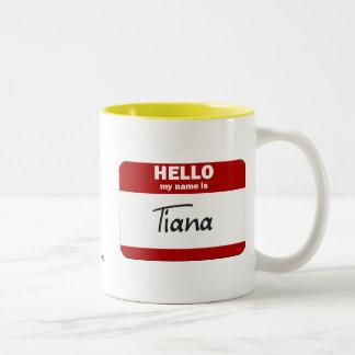 Hejen mitt namn är (röda) Tiana, Två-Tonad Mugg