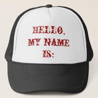 Hejen mitt namn är: truckerkeps