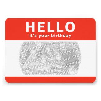 hejer är det din födelsedag! nametag 12,7 x 17,8 cm inbjudningskort