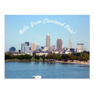 Hejer från den Cleveland OH vykortet Vykort