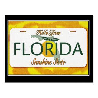 Hejer från Florida vintage resorvykort Vykort