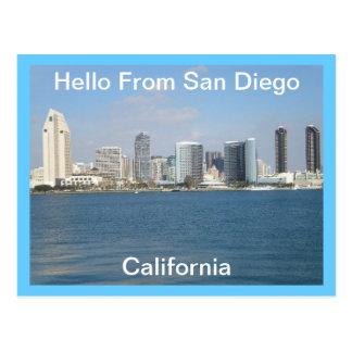 Hejer från San Diego, Kalifornien vykort