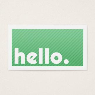 HEJER Göra grön Göra randig Företag visitkort