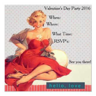 Hejkärlekvalentin inbjudan 2016 för party för dag