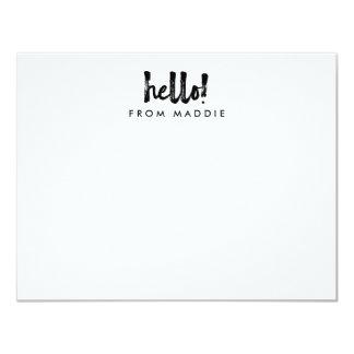 Hejmarkören skrivar personlig noterar kortet 10,8 x 14 cm inbjudningskort