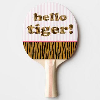 Hejtiger! Den roliga Tigerprint pingen-Pong Pingisracket