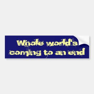 Hel värld som är kommande till en avsluta bildekal