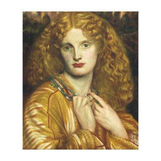 Helen av Troy av Gabriel Dante Rossetti Canvastryck