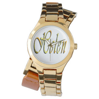 Helen namn, logotyp, guld- sjalklocka för damer armbandsur