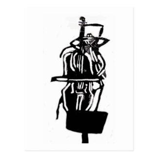 Helga den svart änkaspindeln på violoncellen som vykort