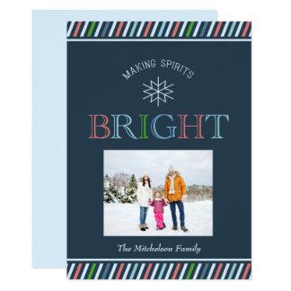 Helgdag för foto för danandeandar sänker den ljusa 12,7 x 17,8 cm inbjudningskort