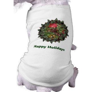 Helgdag för jul för bollpärlorevergreen hundtröja