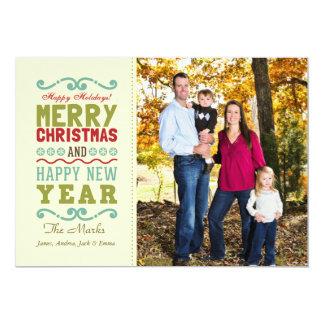 Helgdag för lantlig god jul för vintage lycklig 12,7 x 17,8 cm inbjudningskort