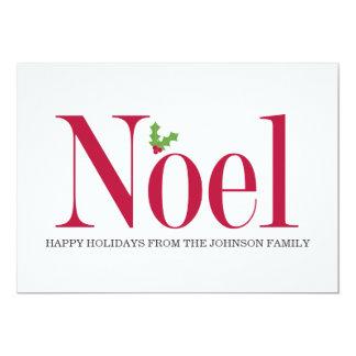Helgdag för Noel järnekdesign sänker kort 12,7 X 17,8 Cm Inbjudningskort