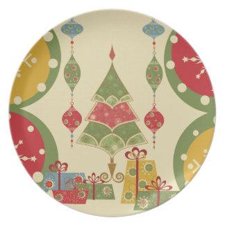 Helgdag för presenter för julgranprydnadgåvor tallrikar