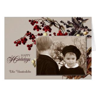 Helgdag för vintageMistletoefoto Hälsningskort