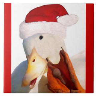 Helgdagar för jul för ankafågel djur kakelplatta