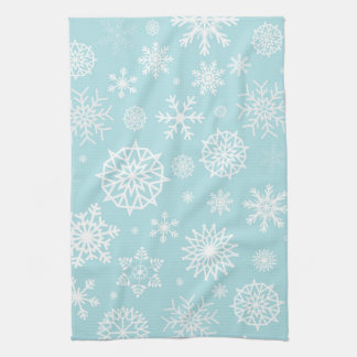 Helgdagar för jul för Snowflake för blåttvitvinter Kökshandduk